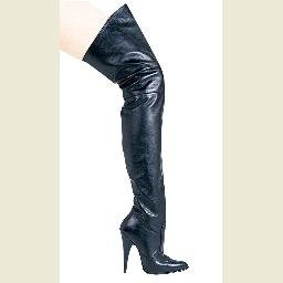 Blaze4 - Leather Thigh High Boot  - Size 8 (US)