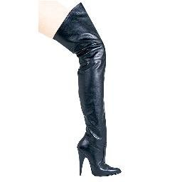 8868, Pig Leather Thigh High Boots in Size 7 (US)