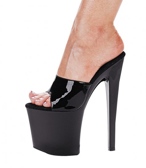 "821-VANITY, 8"" Stiletto Heel Stripper Mule in Black Size 8 (US)"