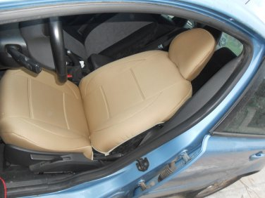 TWO FRONT CUSTOM SYNTHETIC DIAMOND CAR SEAT COVERS (Fits VOLVO XC60 XC70 XC90 UNTIL 2014)