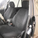 VW AMAROK TWO FRONT CUSTOM BLACK VELOUR SYNTHETIC CAR SEAT COVERS