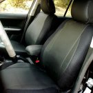 Ford Mondeo 2007–2013 MIX LEATHERETTE & SYNTHETIC TWO FRONT CUSTOM BLACK CAR SEAT COVERS