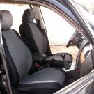 Ford Mondeo 2007–2013 two Front Fancy Cotton & Synthetic Gray Black (K41) Car Seat Covers