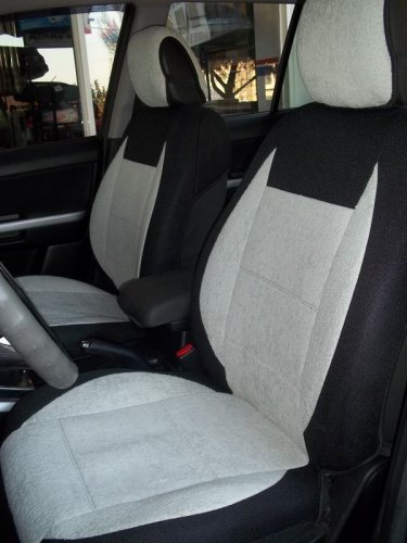 MIX COTTON TOWEL & SYNTHETIC TWO FRONT CAR SEAT COVERS (Fits BMW 3 E36 CONVERTIBLE)