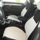 MIX COTTON TOWEL & SYNTHETIC TWO FRONT GREY BLACK CAR SEAT COVERS (Fits AUDI A4 2008-2015)