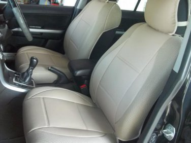 LEATHERETTE & SYNTHETIC TWO FRONT TAN (BEIGE) CAR SEAT COVERS (Fits AUDI A6 2004�2011)