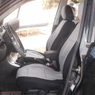 Two Front Grey Black Fancy Cotton & Synthetic (K46) Car Seat Covers (Fits AUDI A6 2011–....)