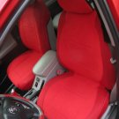 Toyota Hilux 2005–2014 truck TWO FRONT CUSTOM RED VELOUR SYNTHETIC CAR SEAT COVERS