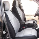 HONDA CR-V 2012-Now two Front Fancy Cotton & Synthetic Gray Black (K46) Seat Covers