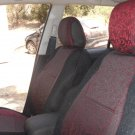 Peugeot 407 4/5 doors two Front Fancy Cotton & Synthetic Red Black (K45) Car Seat Covers