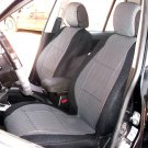 Peugeot 407 4/5 doors two Front Fancy Cotton & Synthetic Gray Black (K41) Seat Covers