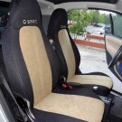 SMART FORTWO 2007-NOW 451 TWO FRONT CUSTOM VELOUR & SYNTHETIC CAR SEAT COVERS