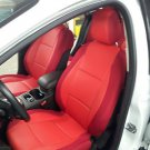 NEW FIAT 500 2door LEATHERETTE & SYNTHETIC TWO FRONT RED CAR SEAT COVERS