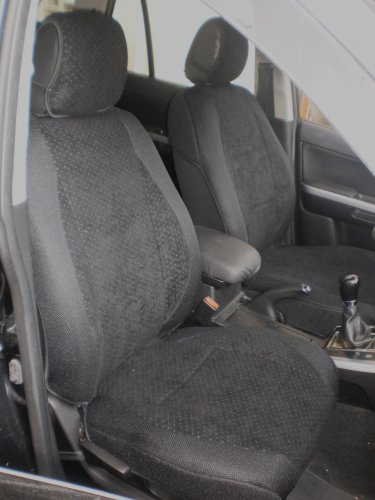 NEW FIAT 500 2door TWO FRONT CUSTOM BLACK VELOUR SYNTHETIC CAR SEAT COVERS