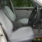 MIX LEATHERETTE & SYNTHETIC TWO FRONT GRAY CAR SEAT COVERS (Fits MERCEDES C-Class 1993-2000 W202)