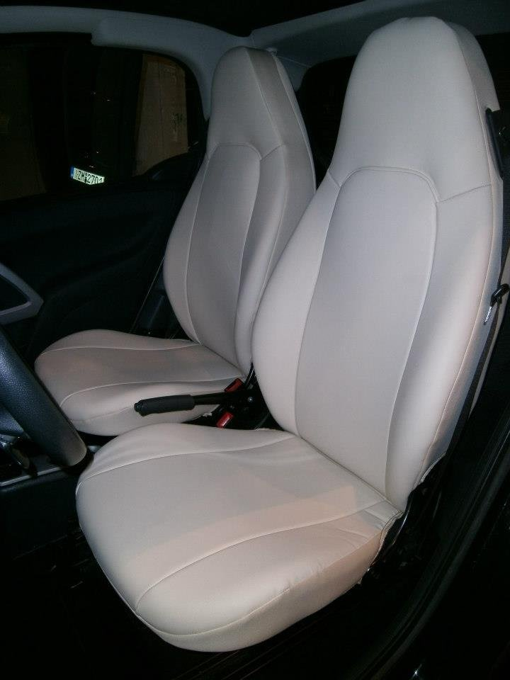 Fits SMART ROADSTER SUGAR LEATHERETTE TWO FULL COVERED CUSTOM CAR SEAT COVERS