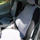 Toyota PRIUS 2010-... TWO FRONT CUSTOM SYNTHETIC GRAY BLACK CAR SEAT COVERS