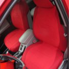TWO FRONT CUSTOM RED VELOUR SYNTHETIC CAR SEAT COVERS (Fits SUBARU IMPREZA 2012-.....)