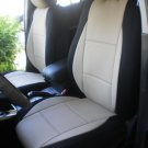 VW GOLF 2009-2013 5 DRS MK6 MIX LEATHERETTE & SYNTHETIC TWO FRONT CUSTOM SUGAR BLACK CAR SEAT COVERS