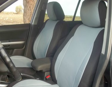 Toyota RAV4 2005�2012 MIX LEATHERETTE & SYNTHETIC TWO FRONT GRAY BLACK CAR SEAT COVERS