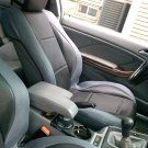 VOLVO XC60 XC70 XC90 UNTIL 2014 MIX L. CARBON FIBER & SYNTHETIC TWO FRONT BLACK GRAY CAR SEAT COVERS
