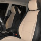 VOLVO S40 V40 S60 S70 V70 S80 MIX LEATHERETTE & SYNTHETIC TWO FRONT TAN & BLACK SEAT COVERS