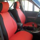 LAND ROVER FREELANDER 2 MIX LEATHERETTE & SYNTHETIC TWO FRONT CUSTOM RED/BLACK CAR SEAT COVERS