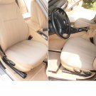 BMW 3 E36 SEDAN TWO FRONT CUSTOM TAN CLASSIC SYNTHETIC CAR SEAT COVERS