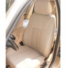 TWO FRONT CUSTOM TAN CLASSIC SYNTHETIC CAR SEAT COVERS fits BMW 5 Series E39 1995-2003
