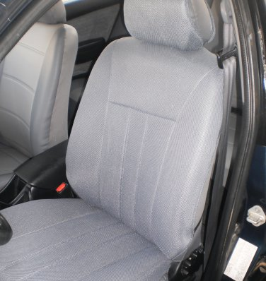 TWO FRONT CUSTOM GRAY CLASSIC SYNTHETIC CAR SEAT COVERS fits BMW 5 Series E39 1995-2003
