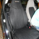 SMART FORTWO 1998-2007 450 TWO  FRONT CUSTOM CLASSIC SYNTHETIC BLACK CAR SEAT COVERS