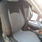 Volkswagen Scirocco 2008-.....TWO FRONT CUSTOM GRAY BLACK CLASSIC SYNTHETIC CAR SEAT COVERS