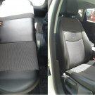 SEAT LEON 2011-.... MIX LEATHERETTE & SYNTHETIC FRONT REAR CUSTOM GRAY BLACK CAR SEAT COVERS