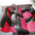 Peugeot 207cc  LEATHERETTE & L.CARBON FIBER FRONT REAR CUSTOM CAR SEAT COVERS
