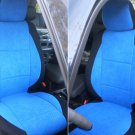 BMW 3 SERIES F30 2012-..... TWO FRONT CUSTOM BLUE/BLACK VELOUR CAR SEAT COVERS