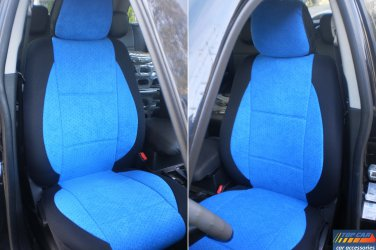 TWO FRONT CUSTOM BLUE/BLACK VELOUR CAR SEAT COVERS fits BMW 3 SERIES F30 2012-.....