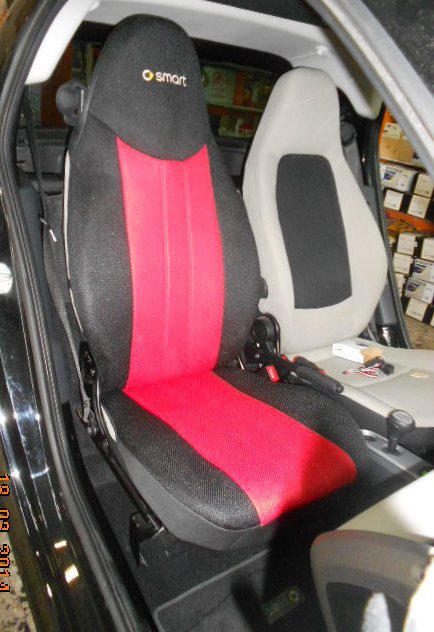 smart fortwo 1998 2007 450 two front custom synthetic red black car seat covers. Black Bedroom Furniture Sets. Home Design Ideas