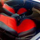 LEATHERETTE & SYNTHETIC TWO FRONT CAR SEAT COVERS fits FORD RANGER 2012-....,RED GRAY