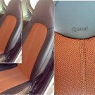 MIX LEATHERETTE & TWO TONE SYNTHETIC FISHNET TWO CAR SEAT COVERS Fits SMART FORTWO 1998-2007