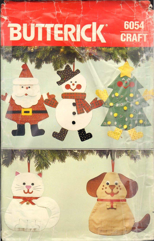 Butterick 6054 Christmas Ornament Craft Pattern OOP FF