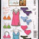 OOP MCall's 5651 Misses Panties,Bras,Camisole, & Slip Pattern Varied Styles OSZ (XS-L) FF