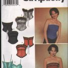 OOP Simplicity 7009 Misses' Bustiers With Trim Variations SZ 12-18 FF