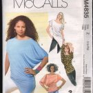 OOP McCall's 4835 Misses' Knit Pullover Tops SZ L-XL FF
