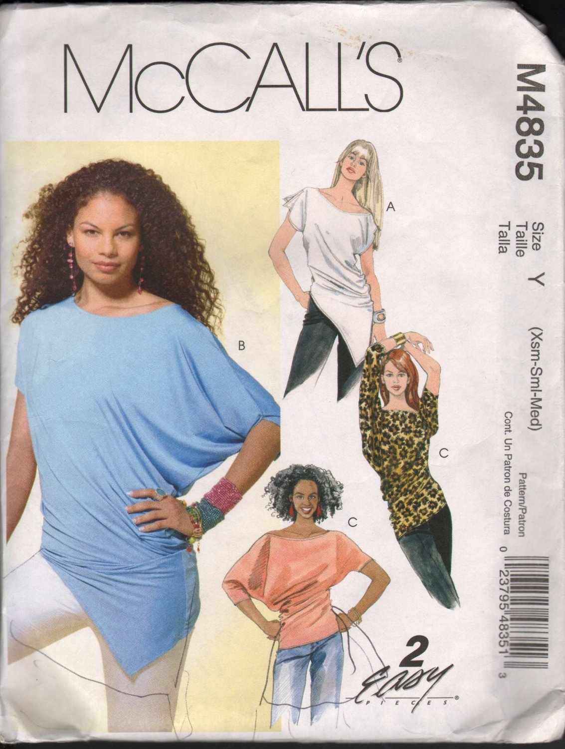 OOP McCall�s 4835 Misses� Knit Pullover Tops SZ XS-M FF