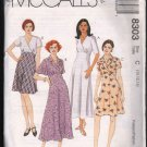 OOP McCall's 8303 Misses' Empire Bodice Dress In Two Lengths -SZ 10-14  FF