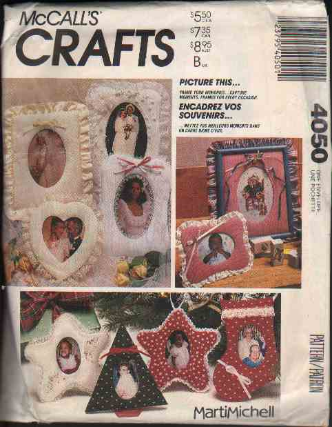 OOP McCall�s 4050/ McCall�s 613  Marti Michell Picture Frames/Ornaments Pattern FF