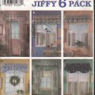 OOP Simplicity 8963 Abbie's Jiffy 6 Pack Window  Poufs Valances & Panels Pattern  FF