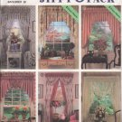 OOP Simplicity 7946 Abbie's Jiffy 6 Pack Window  Valances,Swags & Festoons  Pattern  FF