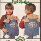 FF Vintage Butterick 6662 COMPLETE UNCUT Cabbage Patch Kids Carrier w/ 7 Bonus Iron Transfers & Card