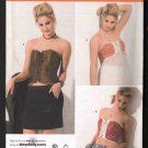 FF OOP Simplicity 2355 Karen Fleisch Designs Misses' Corset Tops w/ Three Design Options Sz 14-20